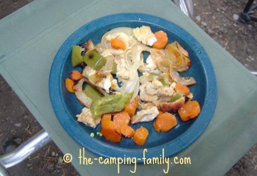 tinfoil dinner on plate