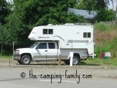 fiberglass sided truck camper