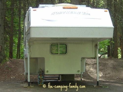 truck camper on jacks