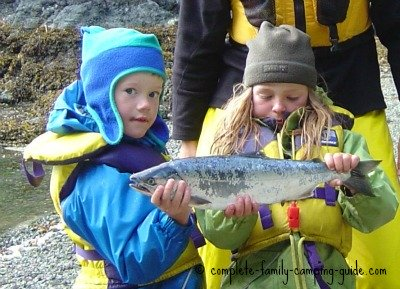 kids with fish