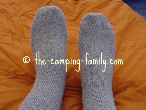 feet in wool socks