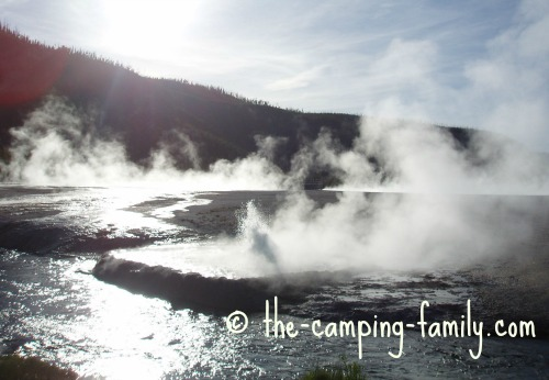 steam at Yellowstone National Park