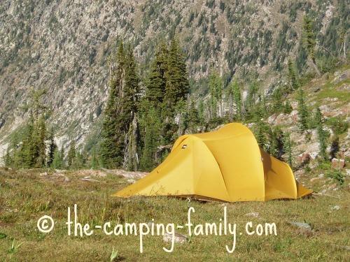 tent in the alpine